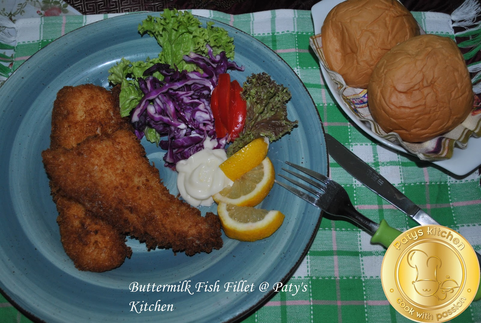Patyskitchen monday special crispy fish fillet with for What to serve with fish fillets