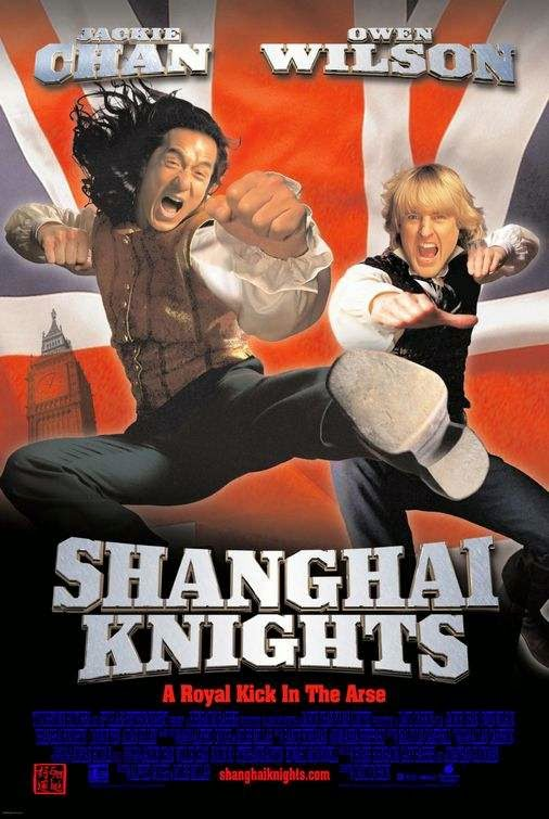 Poster Of Shanghai Knights (2003) Full Movie Hindi Dubbed Free Download Watch Online At Alldownloads4u.Com
