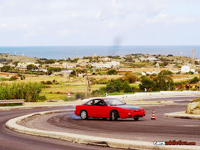Red Nissan Hill Drift