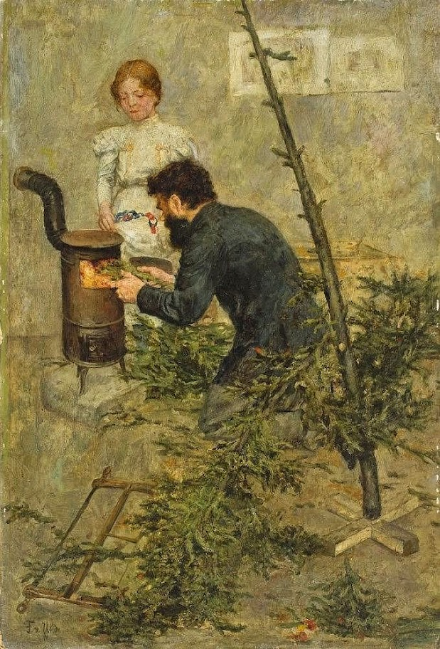Fritz von Uhde - After Christmas