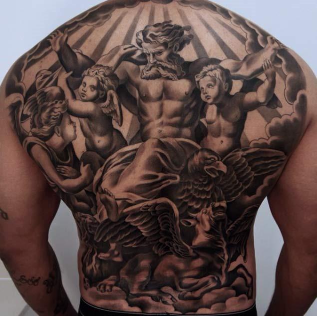 Este raphael de inspiração para as costas