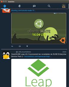 Anatine, interesante cliente Twitter para Ubuntu y Linux. Modo oscuro.