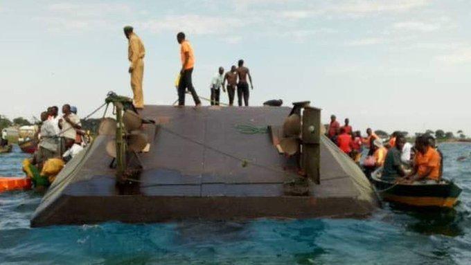 Capsized boat in Usenge Siaya
