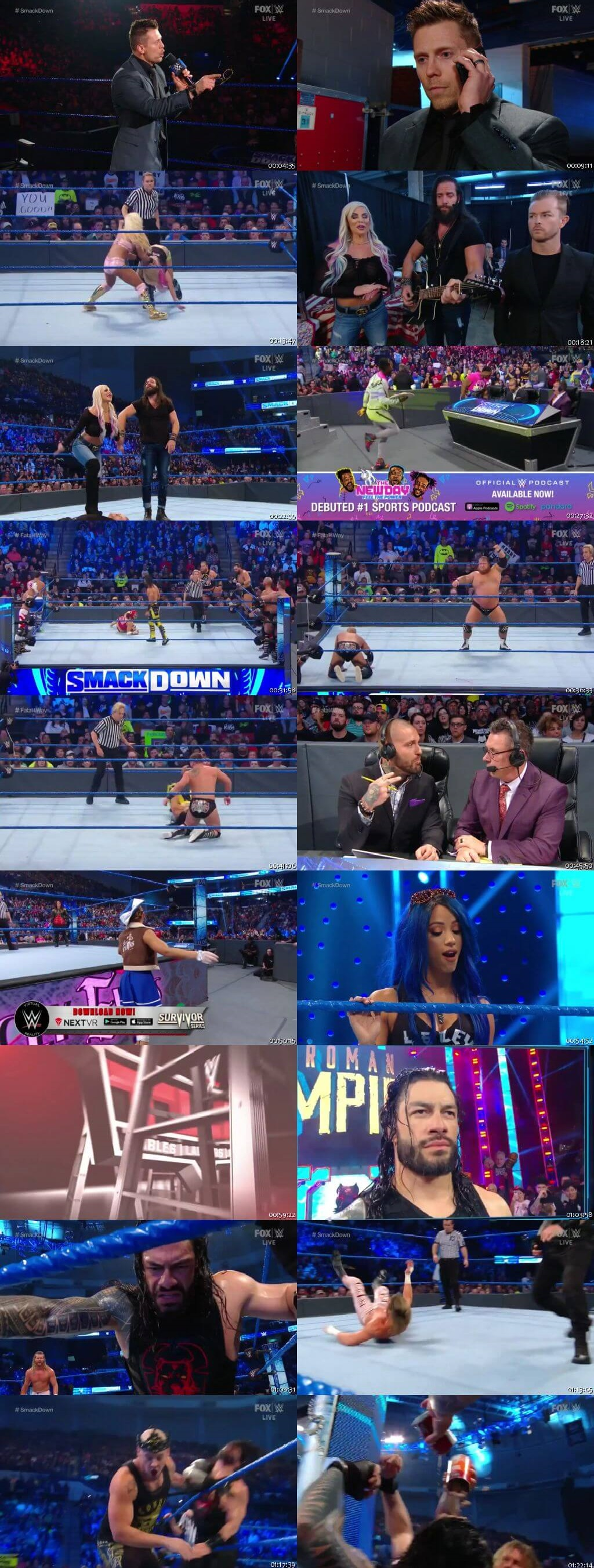 Screen Shot Of WWE SmackDown Live 6th December 2019 HDTV 480P 300MB