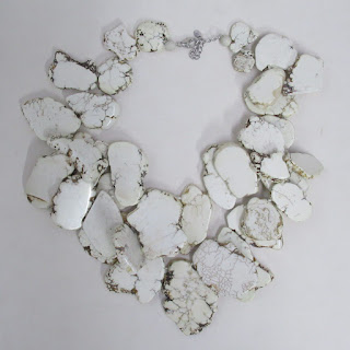 Stone and Sterling Silver Statement Necklace