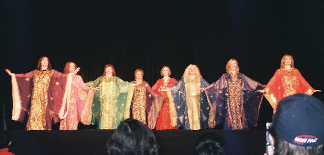 JaLaNour performs the Khalegy (costumes are known as Thobes)