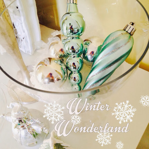 Silver and blue decorations, light and bright Christmas, turqoise and white Christmas decor