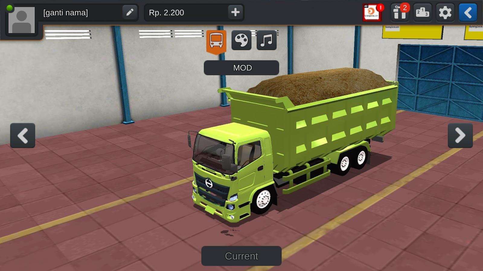 BUSSID MOD : Indian Tipper lorry MOD download | Tipper Truck MOD | bus simulator indonesia MOD