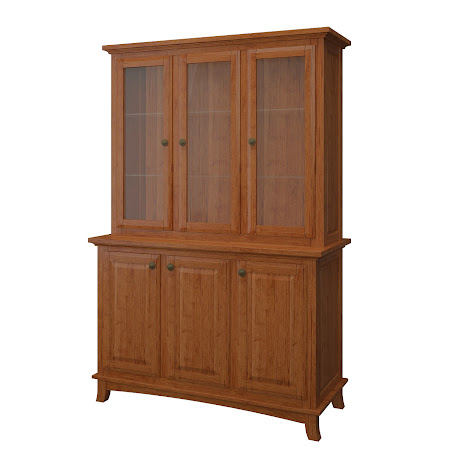 Rochester China Cabinet in Itasca Maple