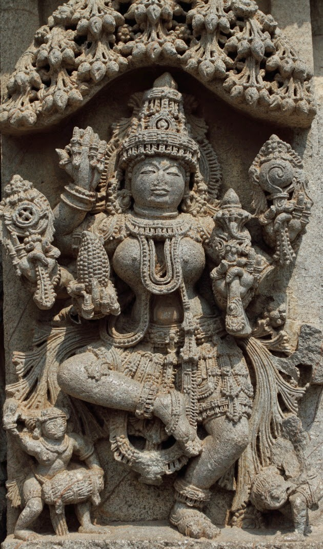 Dancing Lakshmi - A rare statue at the Keshava temple of Somnathpur