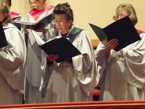 Elizabeth Buckner and Marilyn Hammond sing in the choir.