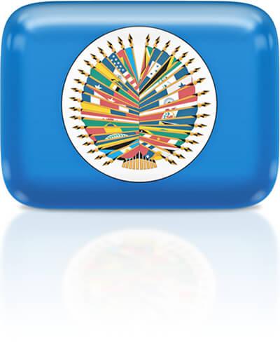 OAS flag clipart rectangular