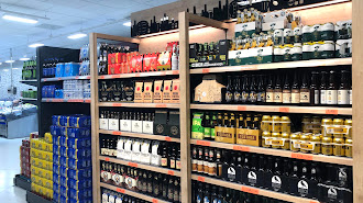 Lineal de cervezas en un supermercado de Mercadona