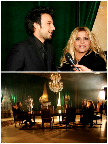 Tarkan on film set for Kibariye's music video