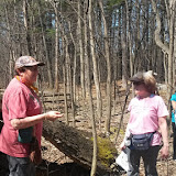 Naturalist Carol Fink shares tree circle of life information.