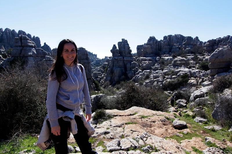 Lena en el Torcal de Antequera