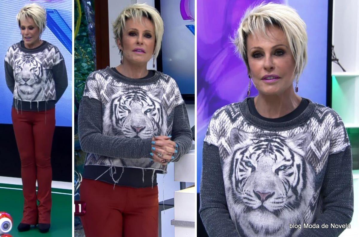 moda do programa Mais Você - look da Ana Maria Braga dia 19 de junho