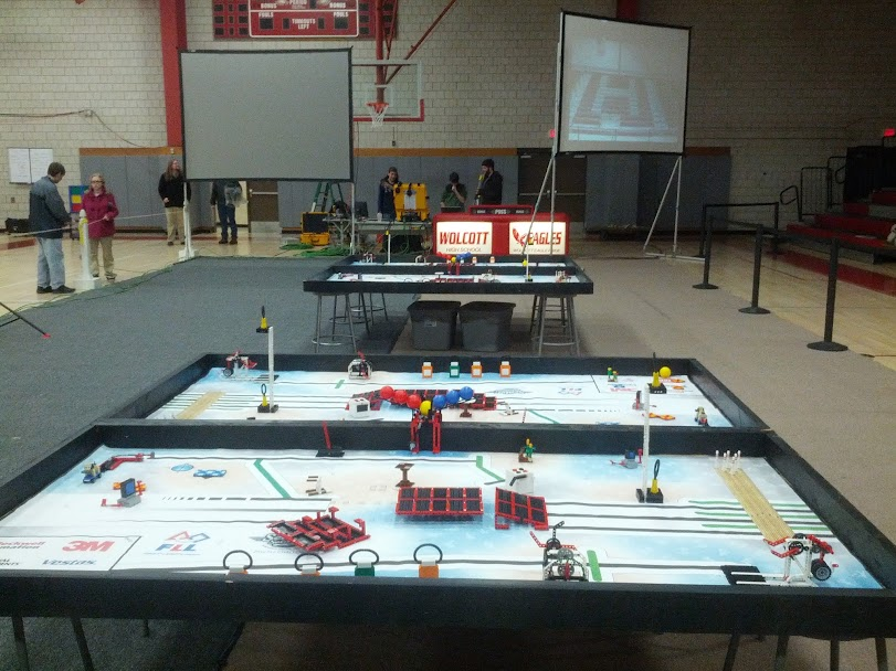 Picture of Lego Robotics Tournament at Wolcott High School
