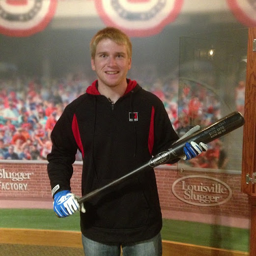 Chris Buescher Takes in Batting Practice at the Louisville Slugger Museum in Louisville, KY #RaceAroundAmerica