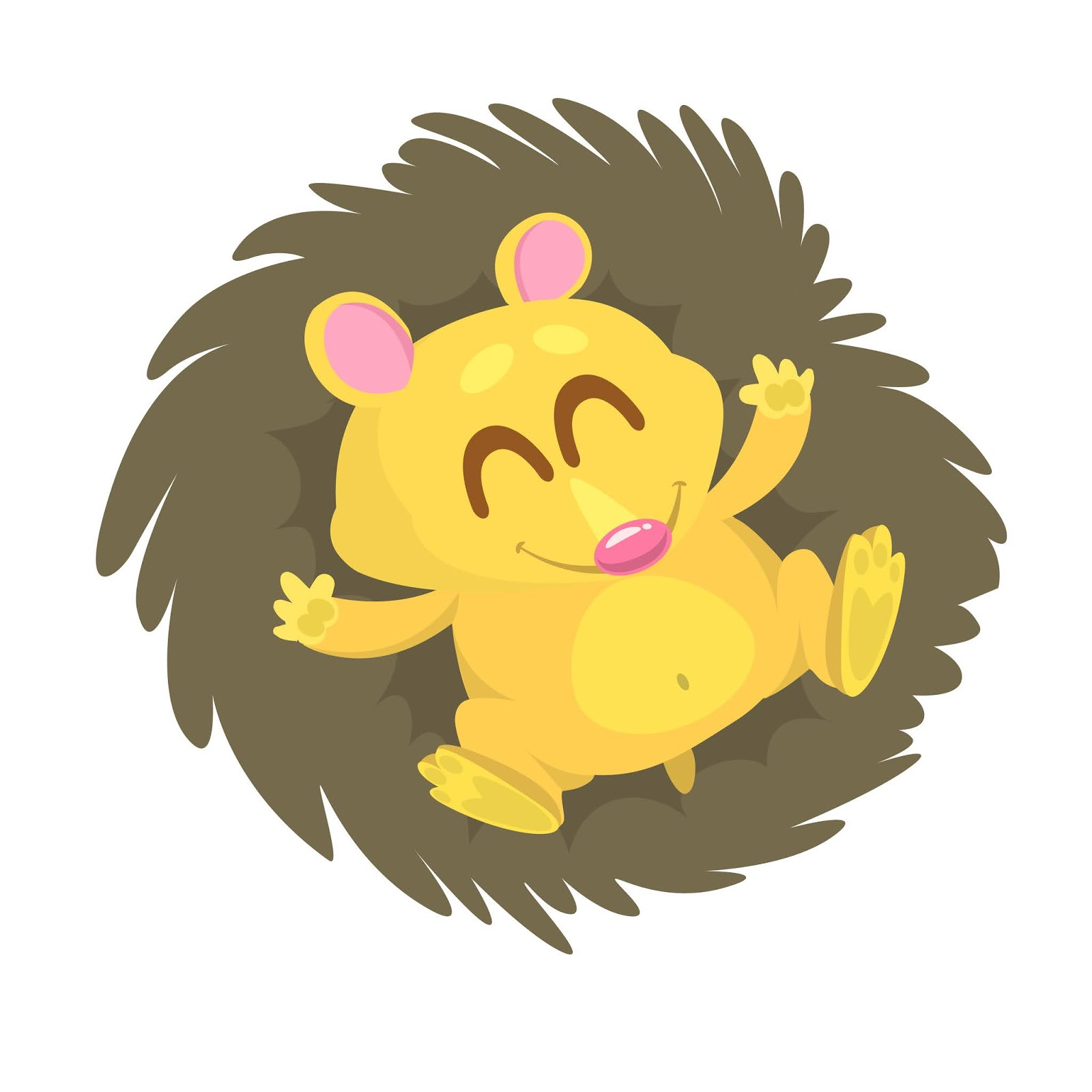 Cartoon Hedgehog Free Download Vector CDR, AI, EPS and PNG Formats