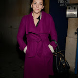 WWW.ENTSIMAGES.COM -              Yolanda Vazquez sighted leaving Trafalgar Studio London October 25th 2013                                              Photo Mobis Photos/OIC 0203 174 1069