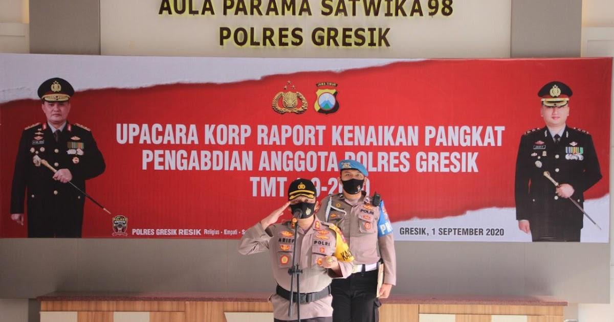 Kapolres Gresik Akbp Arief Fitrianto Pimpin Upacara Korps Raport Kenaikan Pangkat Pengabdian Setingkat Lebih Tinggi Barometer99 Berita Terkini Indonesia