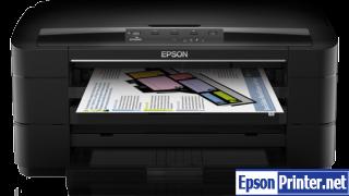 How to reset Epson WorkForce WF-7011 printer