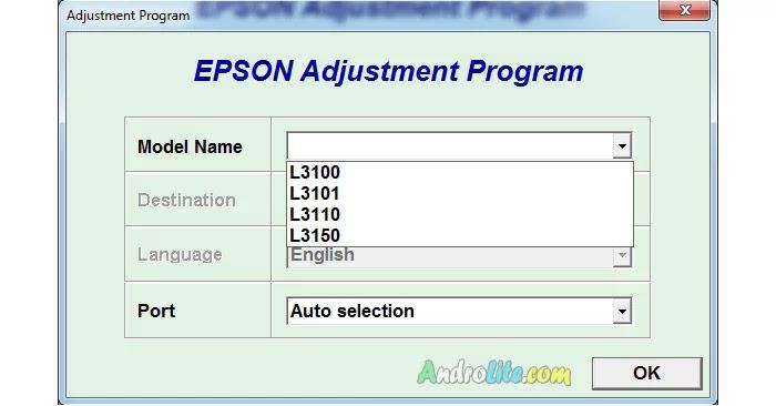 Cara Reset Epson L3100, L3110, L3150, L3001 Menggunakan Resetter