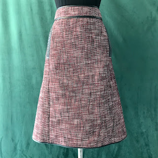 Bottega Veneta Red Tweed Skirt