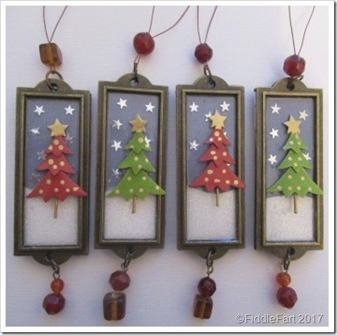 Label Holder Metal Frame Christmas Tree Decoration