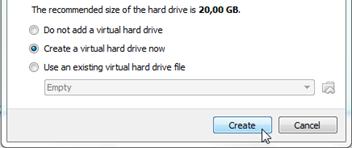 Membuat hard drive virtual
