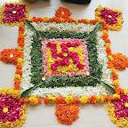 Inter House Flower Rangoli Making Competition (Grade VI-VIII) 24-8-2018.