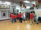 Training at Sim Wing Wing Chun School Fatsan China.