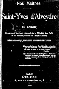 Cover of Saint Yves D'Alveydre's Book Nos Maitres (1910,in French)