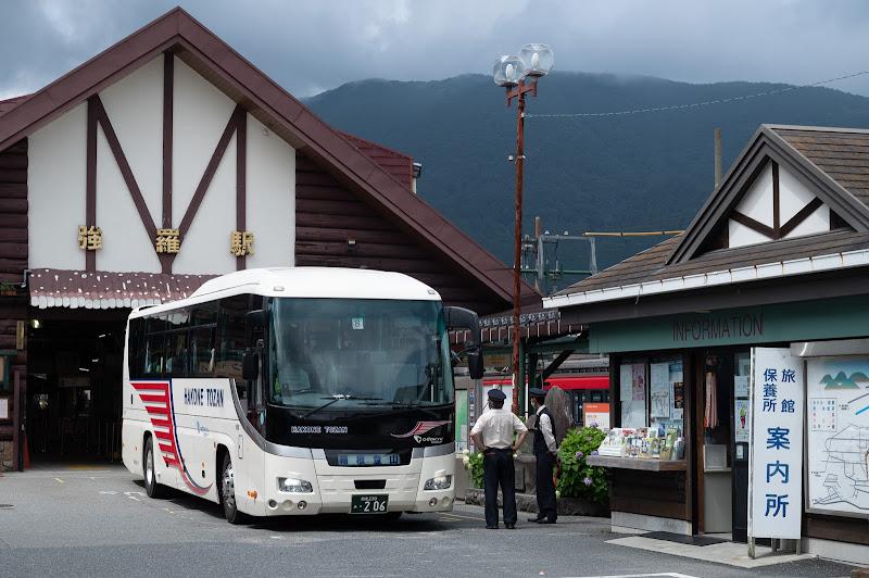 200712 強羅駅前の箱根湯本直通代行バス