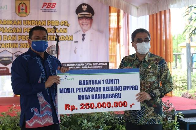 Tingkatkan PAD, Bank Kalsel Berikan Mobil Pelayanan Keliling ke Pemkot Banjarbaru