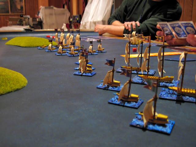 The ships shove off.