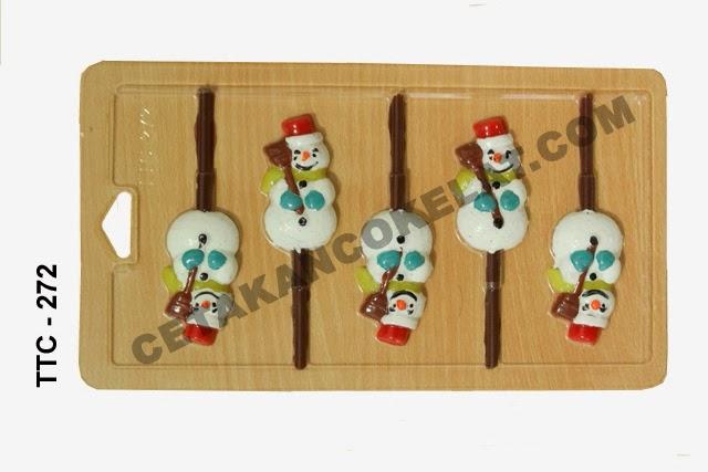 Cetakan Coklat TTC272 Natal Snowman