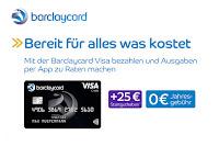 Angebot für Barclaycard Visa Kreditkarte + 25€ Startguthaben im Supermarkt