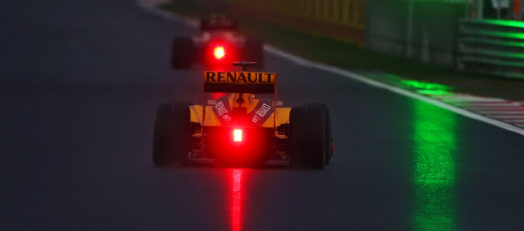 La carrera de F1 en Corea 2010 terminó de noche