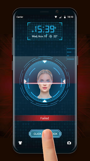 Face detection style lockscreen for prank 9.2.0.1832_master screenshots 2