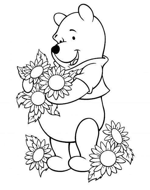 Sunflower Coloring Pages For Kids With