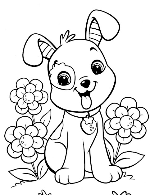 Puppy Coloring Pages Amazing Concept Of Puppy Coloring Pages For Adults  Funny Cat To Print
