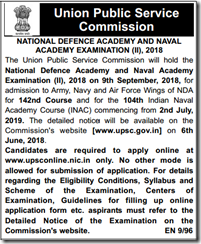 UPSC NDA NA Exam II, 2018 indgovtjobs
