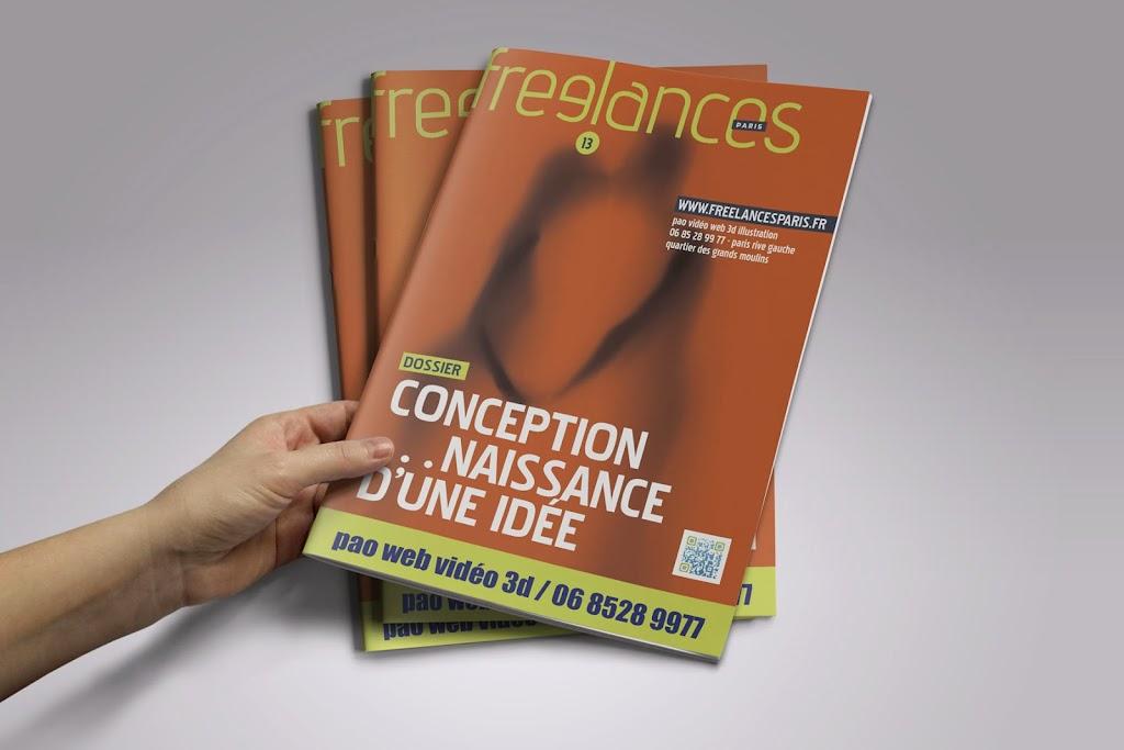 magazine Freelances PAO Conception naissance d'une idée