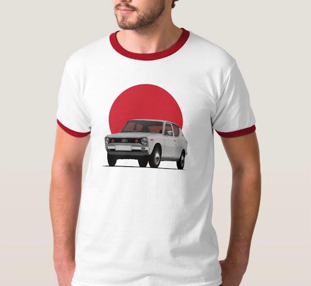 Datsun 100A / Cherry T-shirt with Japan's rising ssun