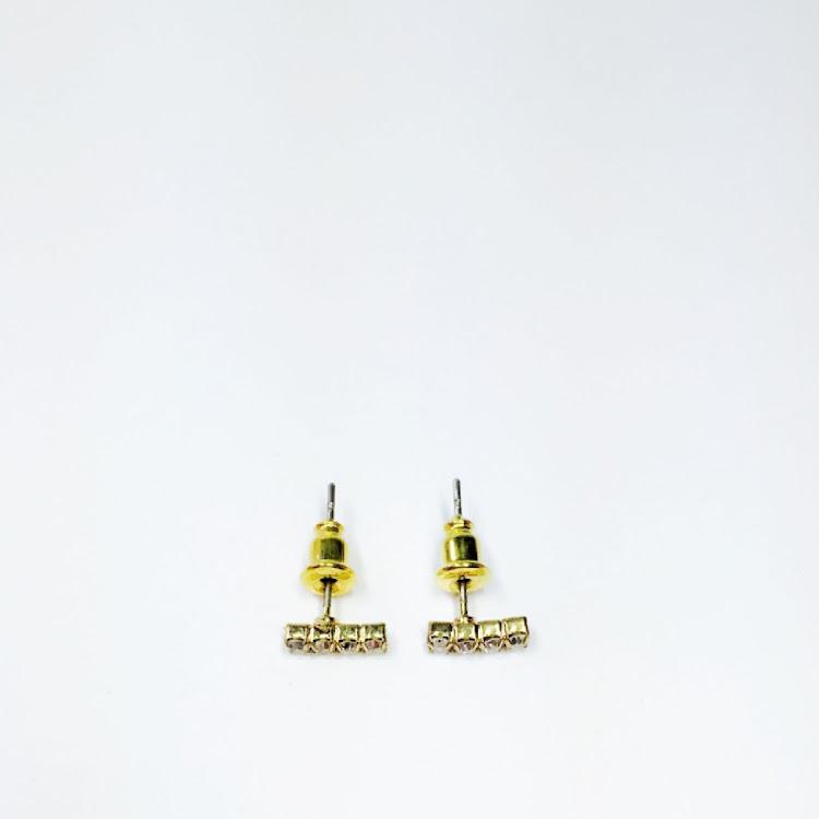 E050 - G. Pave Bar Earrings