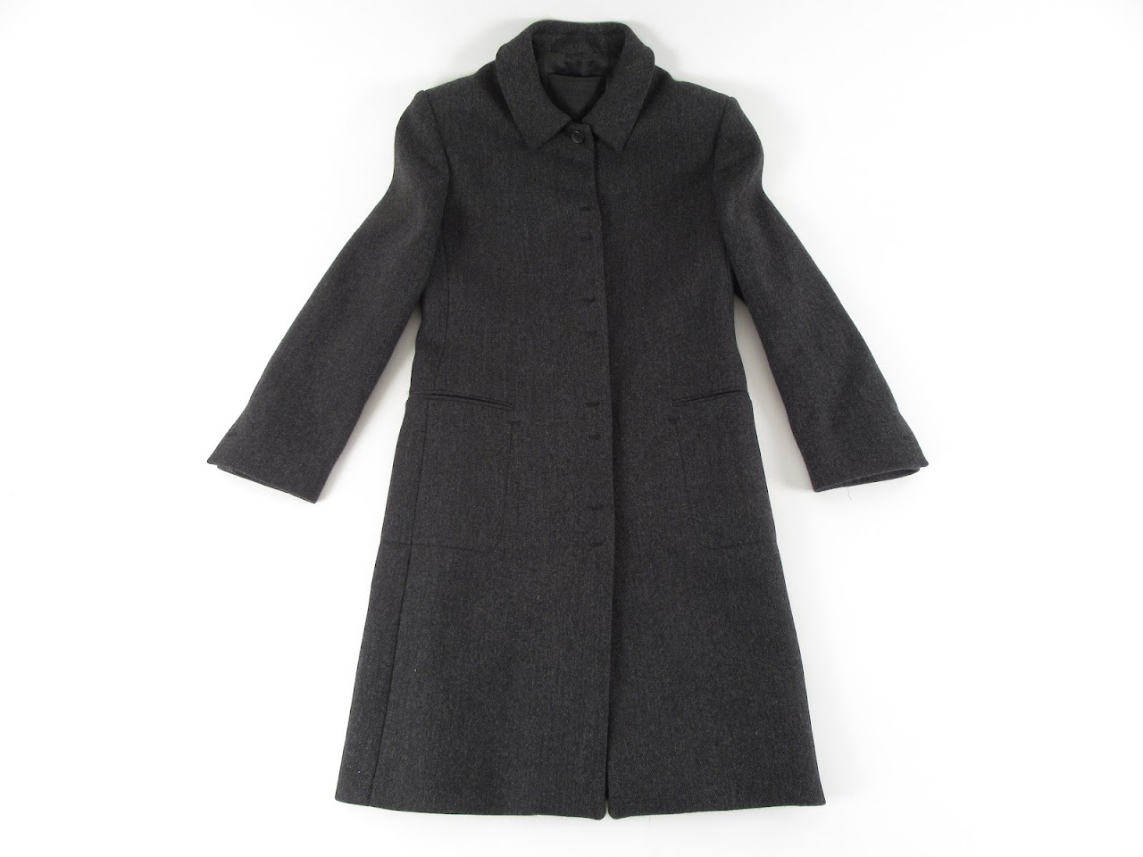 Prada Gray Tweed Coat