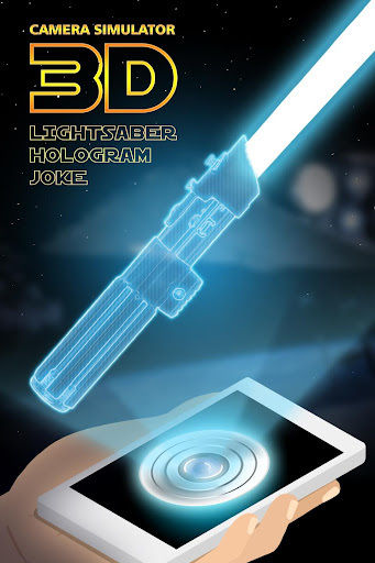 3d lightsaber hologram joke