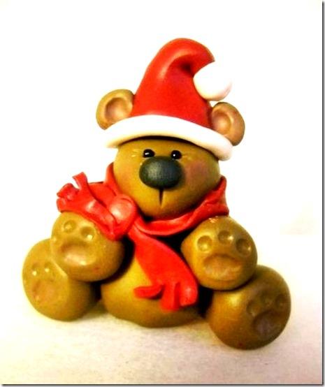 Manualidades osito navidad porcelana fr a - Manualidades de navidad para ninos paso a paso ...
